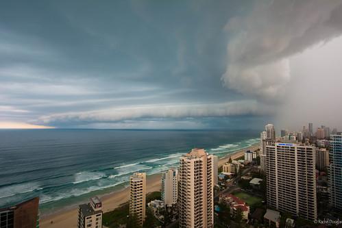 ocean storm rain nikon pacific australia queensland stormclouds surfersparadise goldcoast q1 d5200 nikond5200 racheljoanne