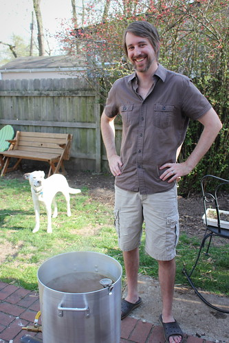 20140420. Brewing on Easter.