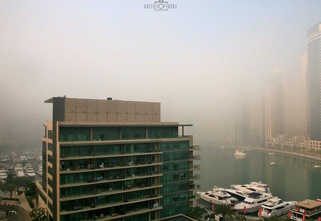 Foggy morning - No.1 - Dubai Marina, UAE