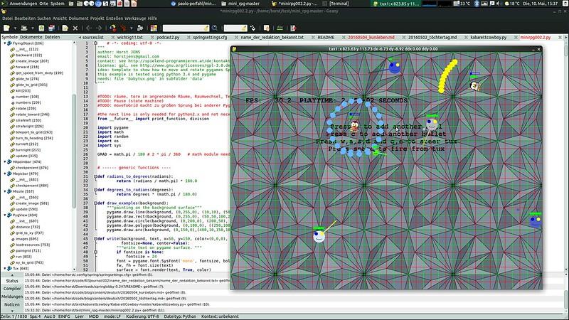 python/pygame Projekt von spielend-programmieren Kursteilnehmer
