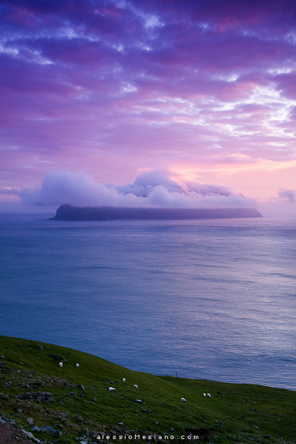 Mykines at sunset