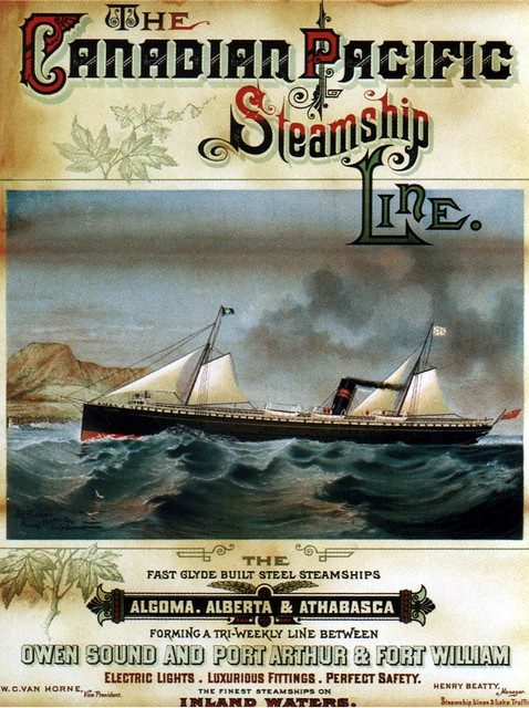 Canadian Pacific Steamship Line. 1884