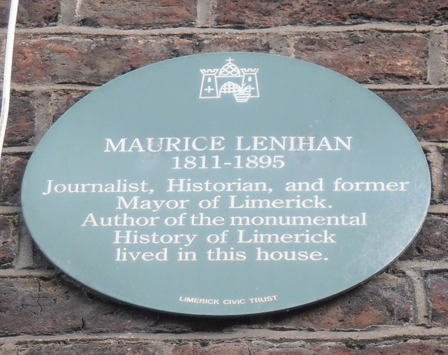 Photo of Maurice Lenihan green plaque