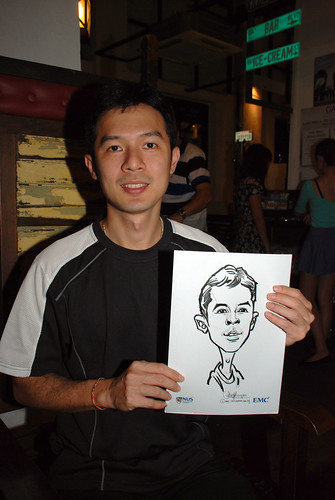 caricature live sketching for emc NUS - 19