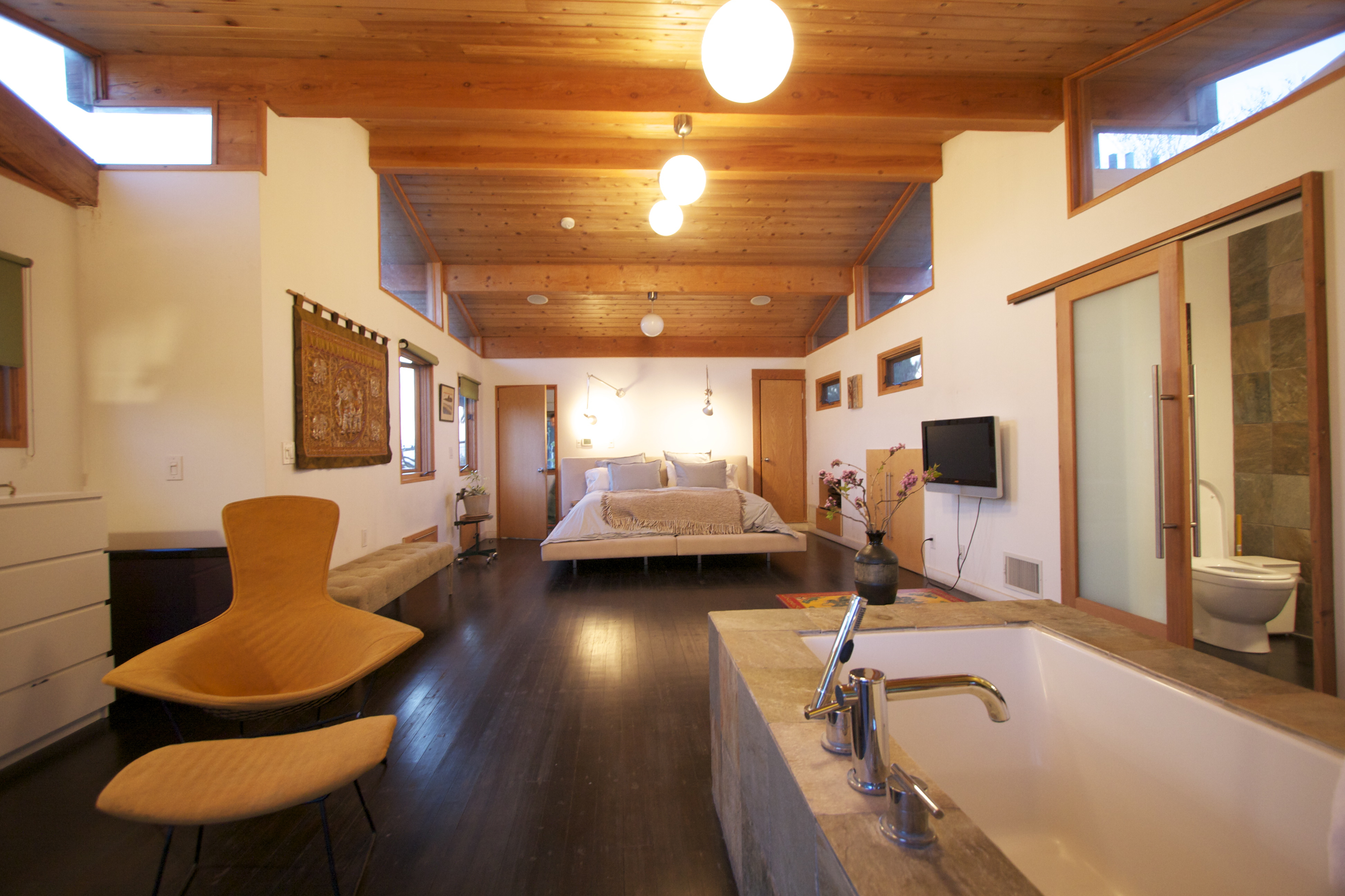 Post and Beam Vaulted Bedroom | Flickr - Photo Sharing!