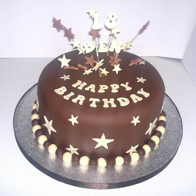 Chocolate 18th Birthday Cake Flickr Photo Sharing