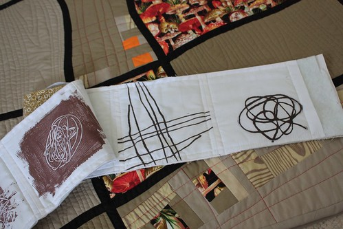 The sketch and the resulting quilt