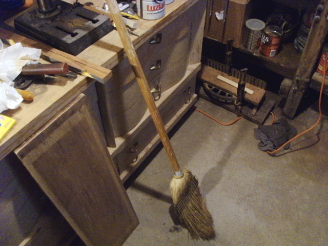 A Broom that's seen better days...