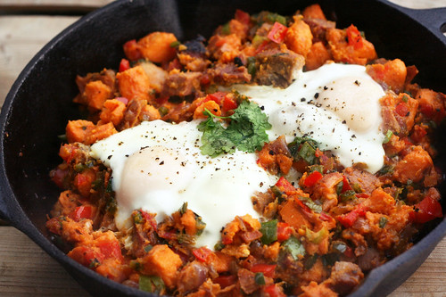 Sweet Potato and Poblano Hash