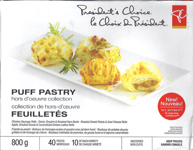 President's Choice puff pastry hors d'oeuvre collection - front