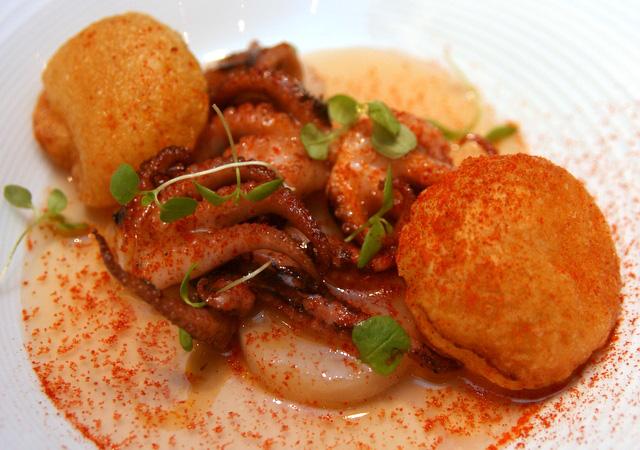 Pulpo a feira, Smoked paprika, Potato Souffle