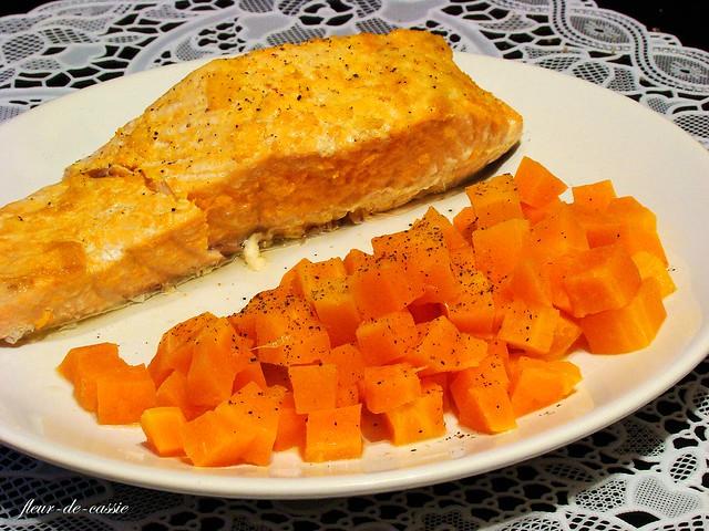 лосось с морковью и апельсином на пару 3