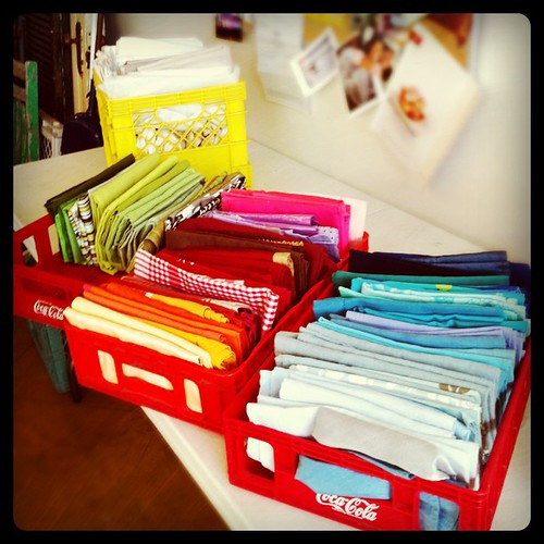 Now available as a freelance napkin organizer and colour coordinator