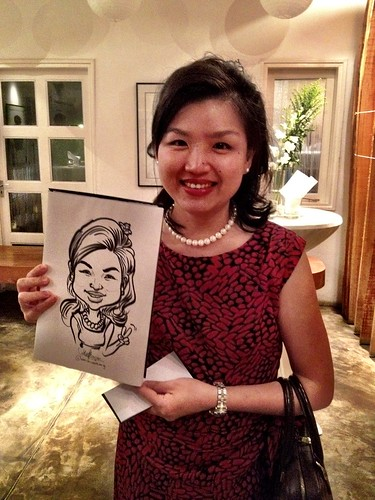 Caricature live sketching for Diageo Singapore Pte Ltd - 6