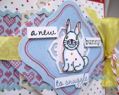 new  bunny diamond fold close-up