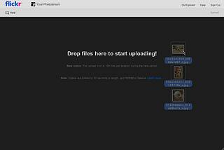 Flickr Uploadr-drag and drop