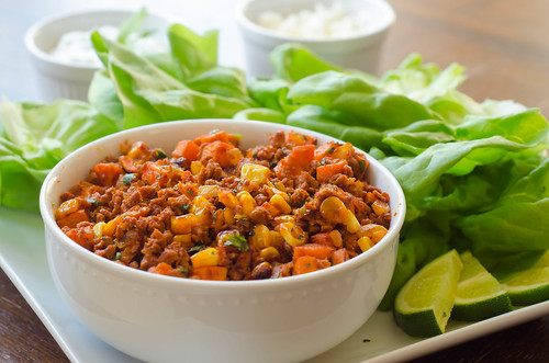Chorizo & Sweet Potato Lettuce Wraps