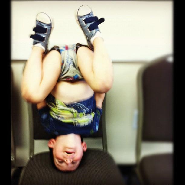 Headstand, dance class