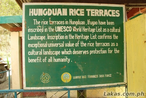 Hungduan Rice Terraces, Ifugao as UNESCO World Heritage Site as Cultural Landscape