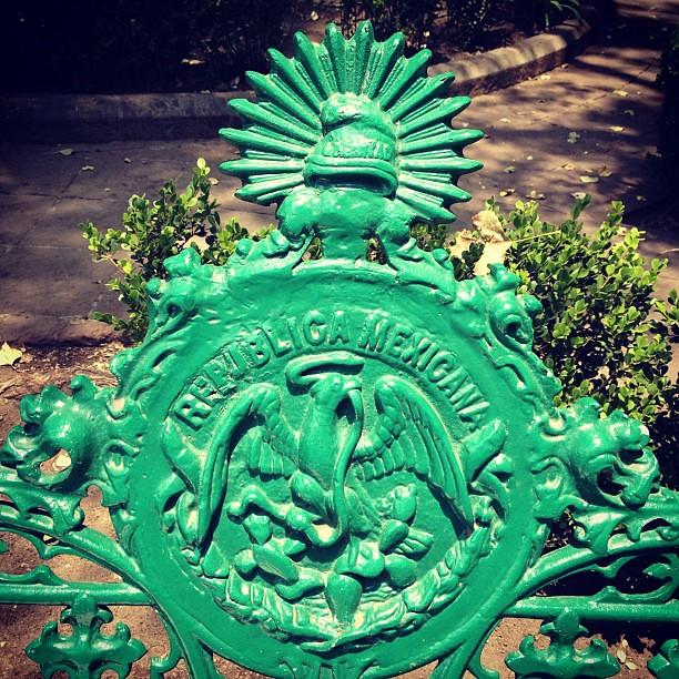 Street bench, Mexico city
