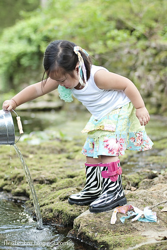 FACEBOOK lily pouring water in the creek