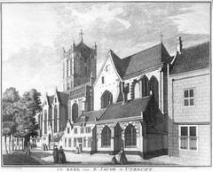 <p>Jacobikerk 18e eeuw. Coll. Het Utrechts Archief.</p>