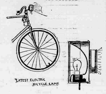 Bicycle Electric Lamp (1896)