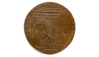 Halfpenny token