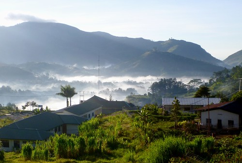 morning mountains fog easttimor timorleste maubisse