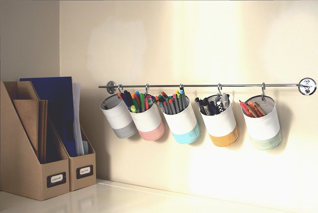 Wall storage for pens and pencils