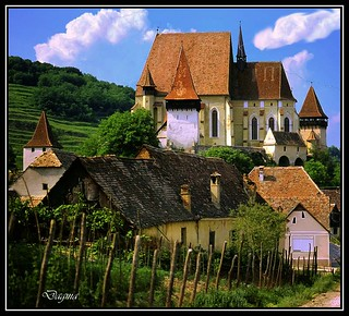 Forcada church near Sighisoara..Romania