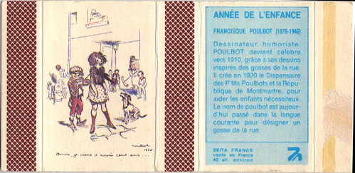 matchbooks - Francisque Poulbot of France