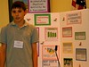 A student delivers a presention at the Project Citizen service-learning showcase.