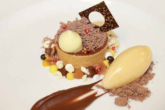 Chocolate Hazelnut Tart, Nutella Powder, Praline Gelato, Bitter Orange ...