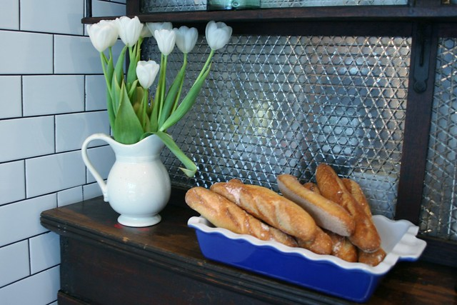 Baguette and Blooms at Le Salbuen