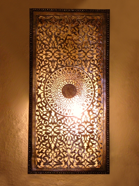 Moroccan wall light wall lamp moroccan interior flickr photo sharing - Plaque decorative murale ...