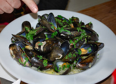 Mussels at Rick Steins Pub