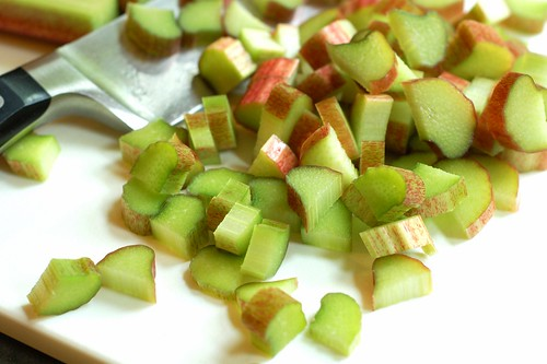 Sliced rhubarb by Eve Fox, Garden of Eating blog, copyright 2012
