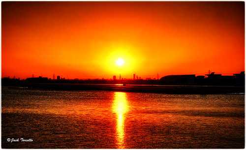 Sunset Over Olympic Park London (from RVD) 1024x