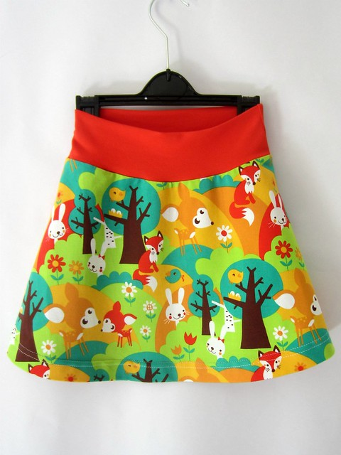 summer forest skirt full