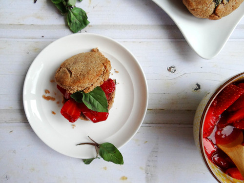 cinnamon basil strawberry shortcakes