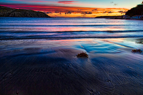 blue sunset red sea newzealand seascape nature clouds landscape gold waves sundown scenic titahibay sxbaird stewartbaird