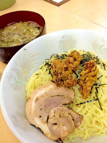 2012-05-30 新津の大将ラーメン「つけ麺醤油味」