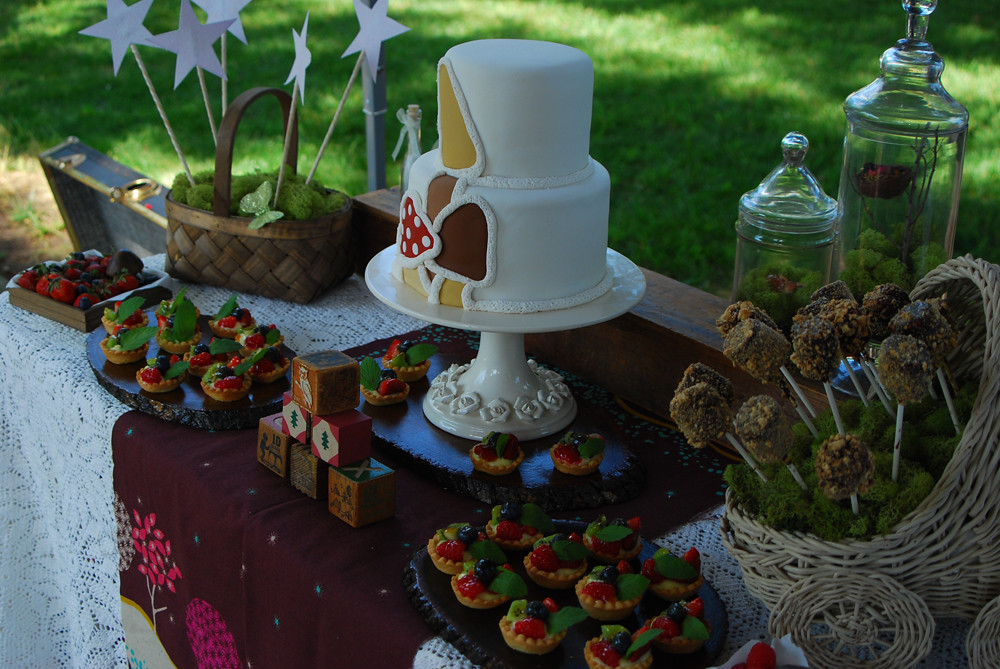 Woodland Enchanted Forest Baby Shower Dessert Table