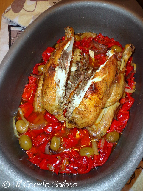 Pollo Campese con olive e peperoni 3
