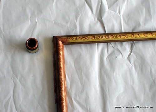 Painting the Frame for a DIY Framed Chalkboard