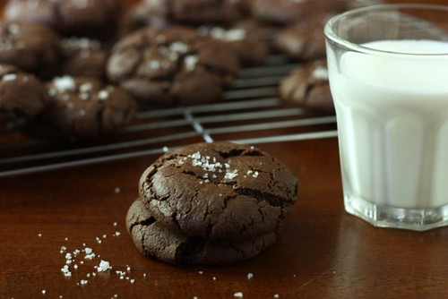Chewy Chocolate Cookies with Fleur de Sel