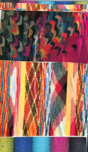 multicolor mini collage with ikat and chevron patterns