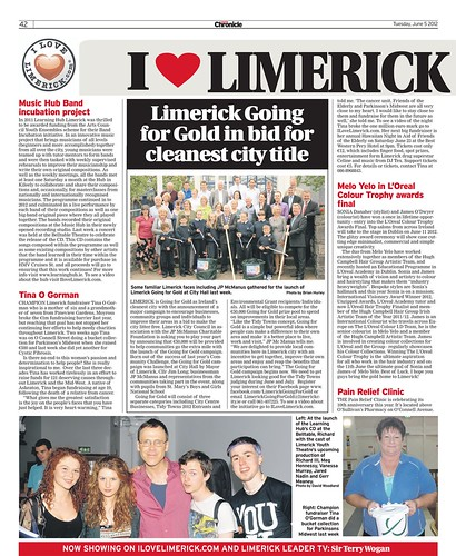 I Love Limerick Chronicle Column 05 June 2012 Page 1