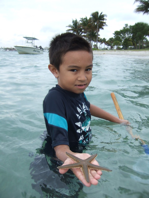 Jamie with a beaded starfish